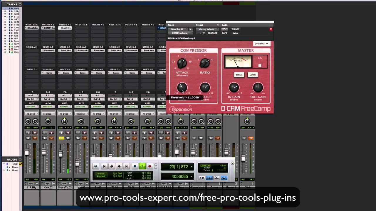 FREE Pro Tools Plug In Focus - D CAM Free Comp
