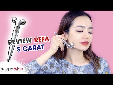 """""""KINH NGẠC"""" Lần Đầu Thử Cây Lăn Nâng Cơ Thon Gọn Mặt 😱   ReFa S Carat Review   Happy Skin"""