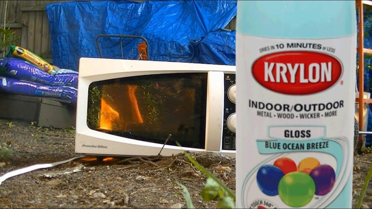 microwave me spray paint youtube. Black Bedroom Furniture Sets. Home Design Ideas
