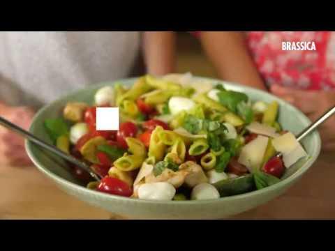 Fonkelnieuw Pastasalade met pestodressing en kip - YouTube BU-45