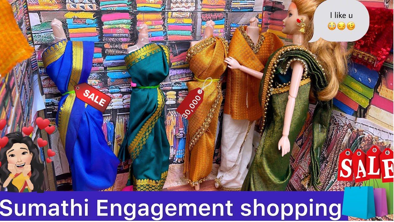 Sumathi Engagement shopping 🛍 | சுமதியின் நிச்சயதார்த்த Shopping | Barbie tiny food #minimarriage