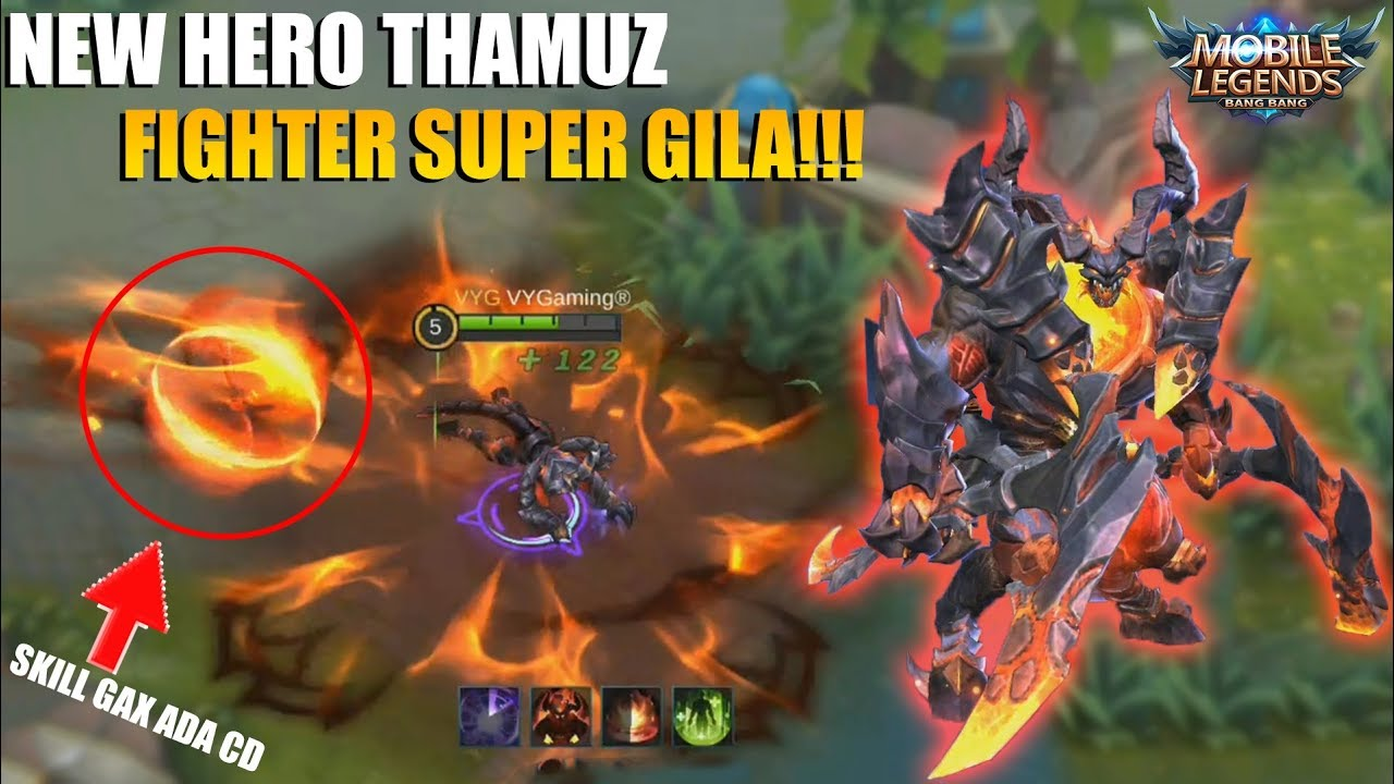 NEW HERO THAMUZ - FIGHTER PALING OP YANG GAX ADA SAINGANNYA!!! SKILL DEWA GAX ADA OBAT!