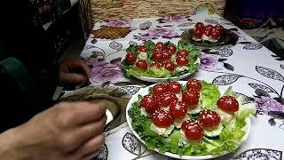 (часть 2) Праздничная закуска Мухоморы