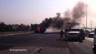 Car Accident on the Fifth ring road in Kuwait