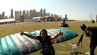 Cute indian girl skydiving in Dubai :)