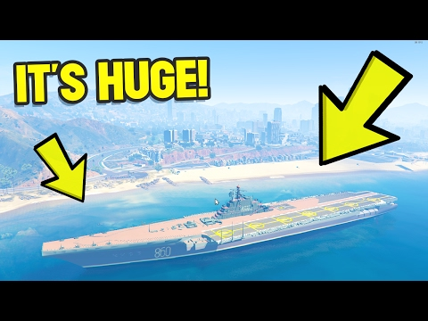 DRIVEABLE AIRCRAFT CARRIER! GTA 5 MODS