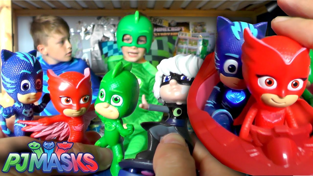 Pj Masks Toy Hunt Surprise Official Toys Unboxed Youtube