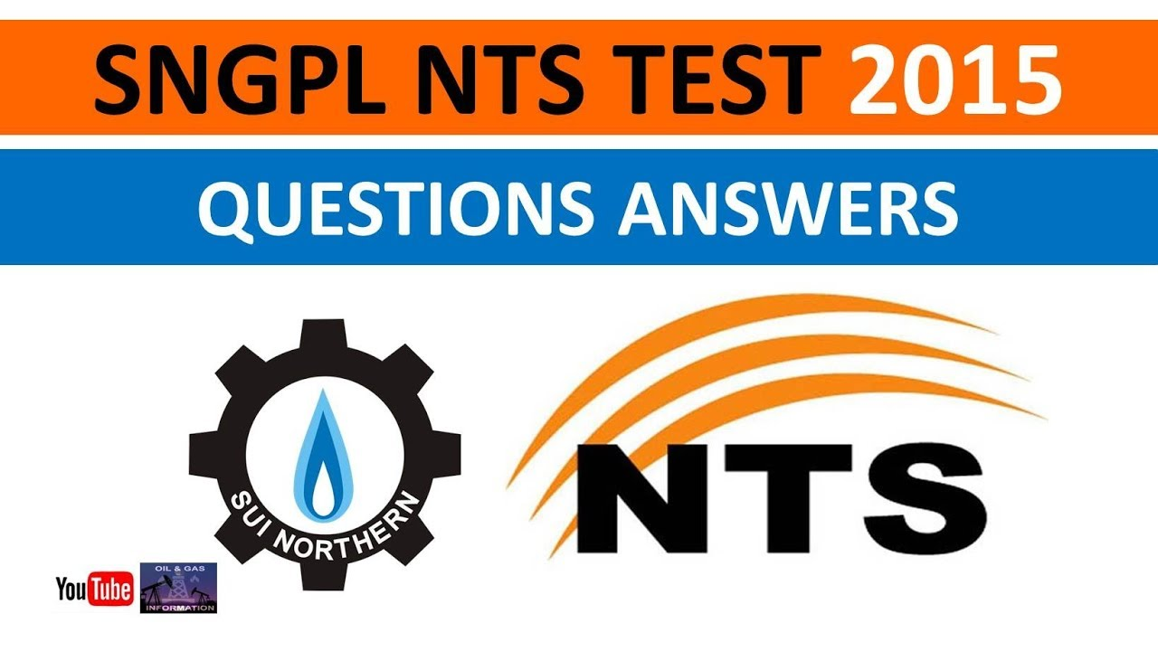 SNGPL NTS Test 2015 | Questions Answers | Company Business | General  Knowledge