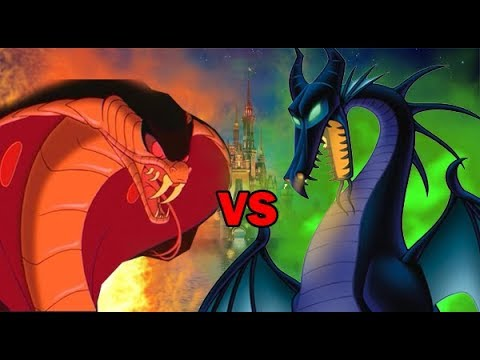 Snake jafar vs dragon maleficent spore youtube - Serpent aladin ...
