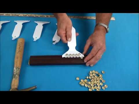 Upholstery Basics: How To Apply Decorative Tacks