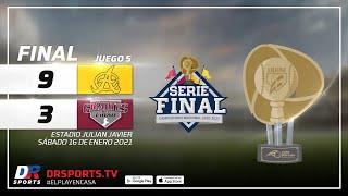 Resumen Águilas Cibaeñas vs Gigantes del Cibao   16 ENE 2021   Serie Final Lidom
