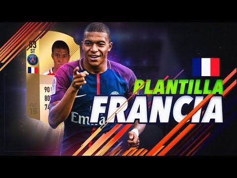 KYLIAN MBAPPÉ y 10 JÓVENES MÁQUINAS |PLANTILLA FRANCIA FIFA 18