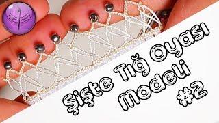 Şişte Boncuklu Tığ Oyası Modeli Yapımı #2 HD Kalite