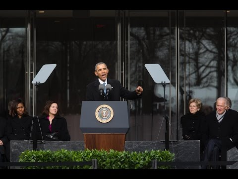 President Obama Speaks at the Dedication of the Edward M. Kennedy Institute