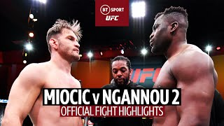 Stipe Miocic v Francis Ngannou 2 | The Ngannou era is here! UFC 260 Official Fight Highlights