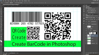 PHOTOSHOP : Create Bar Code and QR Codes.....