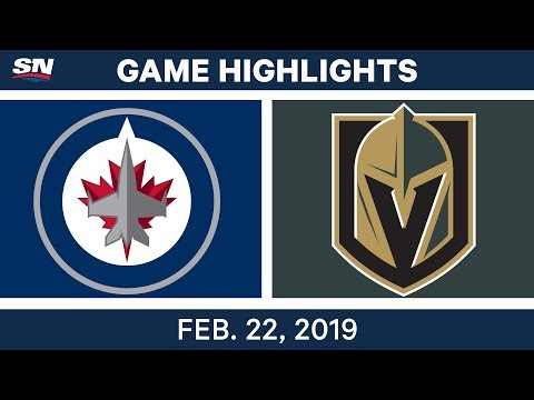 NHL Highlights | Jets vs. Golden Knights - Feb 22, 2019