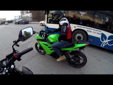 Otostopçu Alamayan Motorcu | Değişik Montaj | Çılgın Kawasaki Enes | Mt07 ve Ninja 300 'le Turlamak