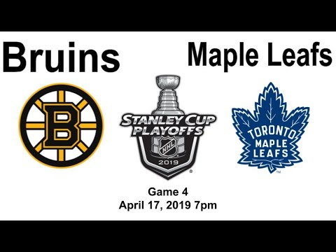 Boston Bruins Vs Toronto Maple Leafs Game 4 Live Reaction + Chat