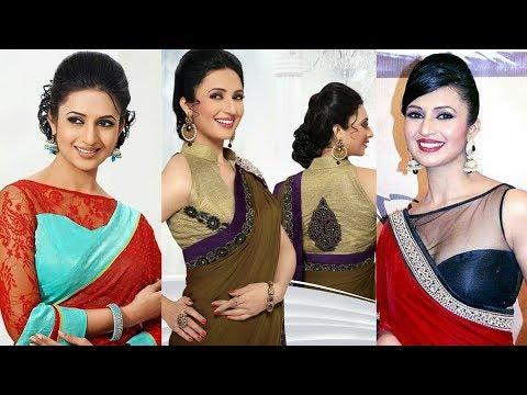 48637aff88804b Latest Divyanka Tripathi Designer Saree Blouse||Blouse Design ...