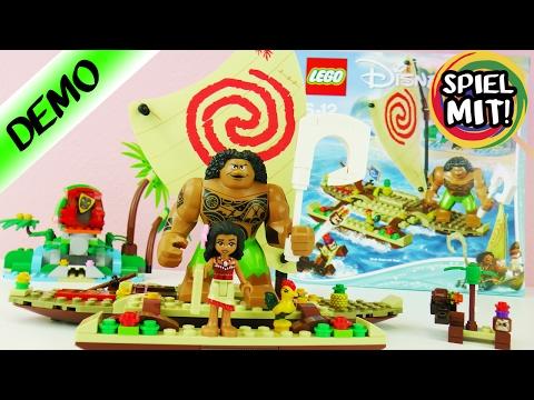 LEGO DISNEY VAIANA auf hoher See mit Maui + Heihei Boot fahren   Demo