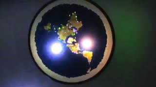 42 inch LED Flat Earth wall model by Flatearthmodels - Chris C Pontius ✅
