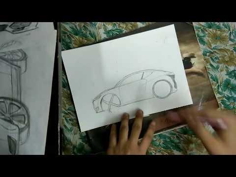 How to draw car [HINDI] (basics)