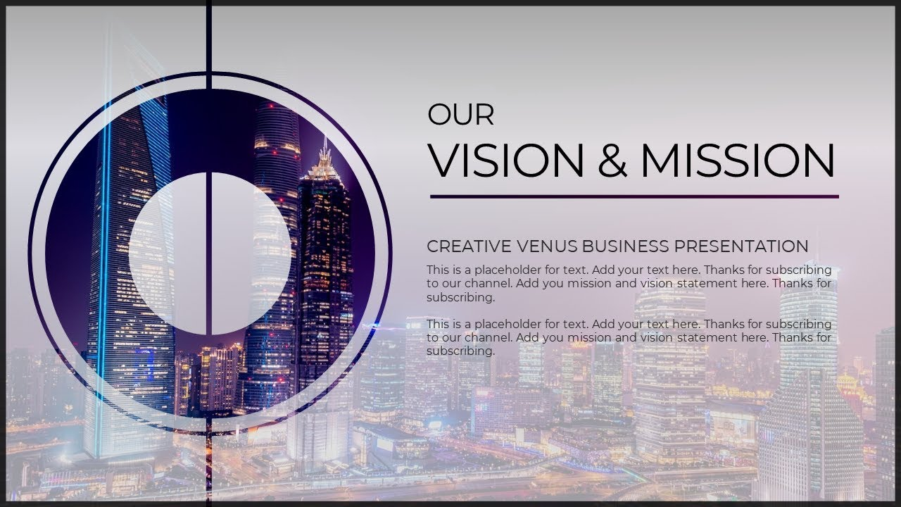 how to create vision  u0026 mission slide for corporate