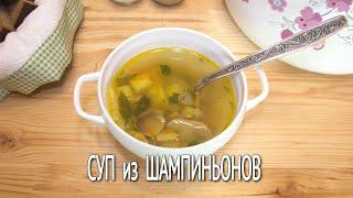 Как приготовить грибной суп из шампиньонов. Вкусный и сытный суп без мяса.
