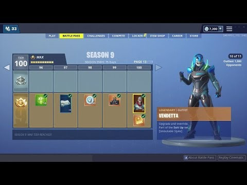 Everything New From The Season 9 Battle Pass Fortnite Max Tier 100 Battlepass Youtube