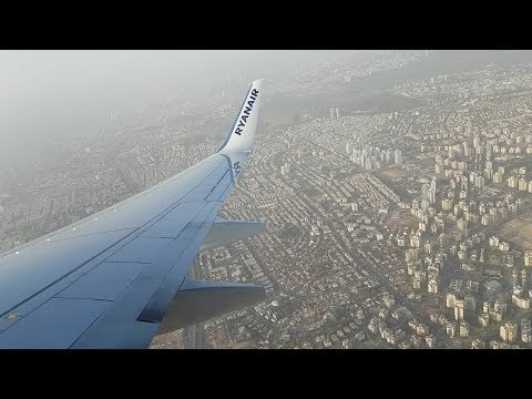 """Full Taxi and Take Off Boeing 737-8AS - TLV-FCO - """"RYANAIR"""" - FR7091"""