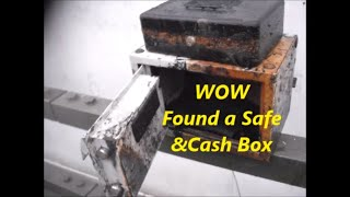 Safe & Cash Box Found  North London. river   Magnet Fishing