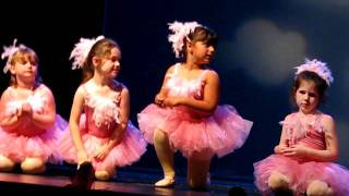 5-6 year old ballet dance rehearsal