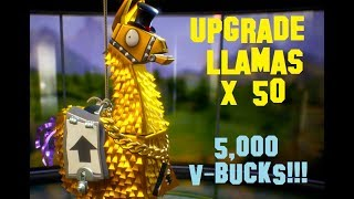 Fortnite: Smashing Open 50 Upgrade Llamas (5,000 V-Bucks!!!) in Save the World
