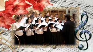 Concert de Pasti. Corul bisericii dirijat de preot Nicolae Gavrila. Preot paroh Balaceanca