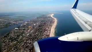 Delta 737 800  takeoff from Santiago STI