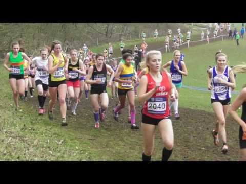 Under 17 Women UK Inter Counties National Cross Country Championships 11032017