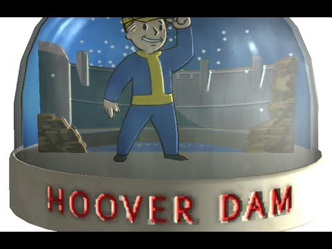 Fallout: New Vegas - SNOW GLOBE - Hoover Dam (LOCATION)