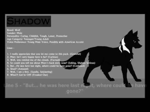 Casting Call Response - Shadows (Iantos, Shadow, Mark, Taran)