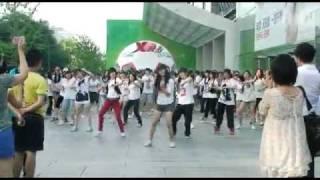 100704 Flash Mob holding by China Cassiopeia@Beijing JoyCity
