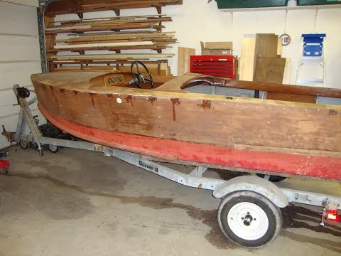 Wood Boat project with cousin Steve