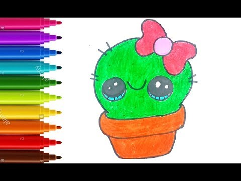 Download How To Draw Cactus For Kids With Mukesh Cactus Drawing Go