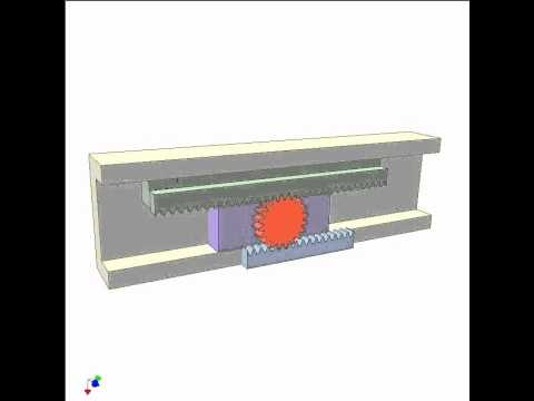 Application Of Rack Pinion Mechanism 1 Youtube