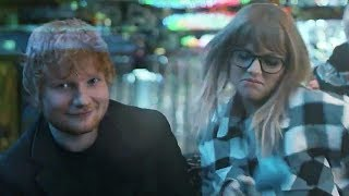 Taylor Swift Knocks Back Shots with Ed Sheeran in