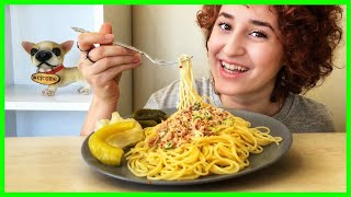 Ton Balıklı Spagetti MUKBANG| Böcek Korkusu, Kavga