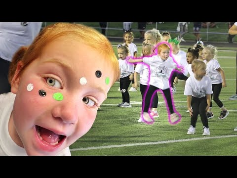 ADLEY CAN DANCE!! She Learns a fun Halftime Routine and performs at my OLD SCHOOL?