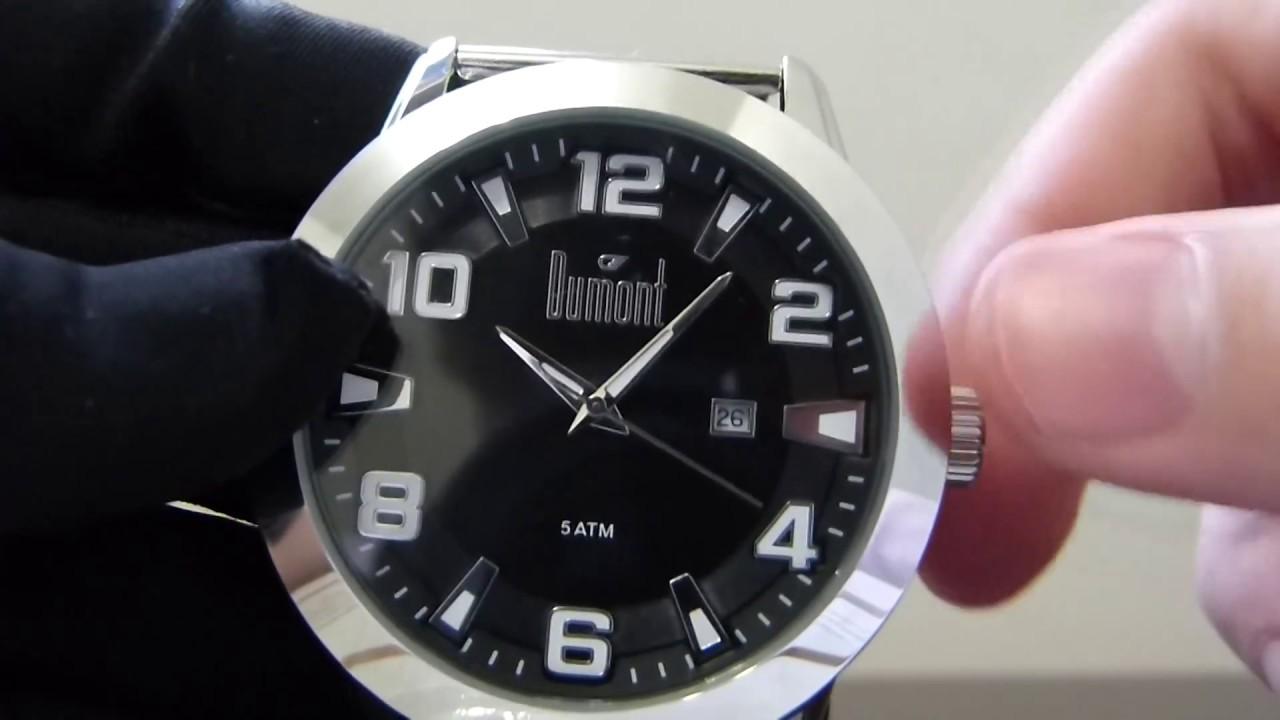 3ebf9b4f979 Relógio Masculino Dumont DU2115CY 3P Berlim Aço Casual Analógico ...