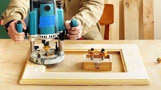 Фрезерование и изготовление деревянной рамки комбинированными фрезами