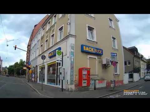 Download D: Stadt Nürnberg. Fahrt durch den Stadtteil St. Johannis. Juni 2018
