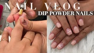 COME WITH ME TO GET DIP NAILS REMOVED & REDONE SHORT DIP NAILS 💅🏼| INMYSEAMS